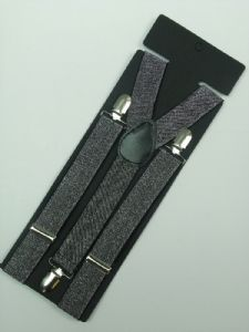 Black Braces 2cm wide